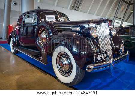 STUTTGART GERMANY - MARCH 18 2016: Luxury car Packard Eight Coupe 1932. Europe's greatest classic car exhibition