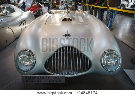 STUTTGART GERMANY - MARCH 18 2016: The racing car Veritas RS 1949. Europe's greatest classic car exhibition