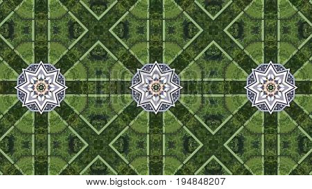 Abstract Animation With Hand Drawn Geometric Kaleidoscope Pattern