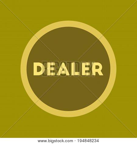 flat icon on stylish background poker chip dealer