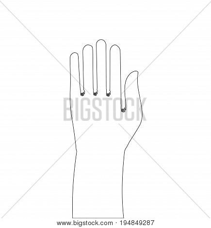 Hand outline simple vector illustration with a wide range of applications. Original vector linear illustration handmade. Vector icon with a wide range of applications