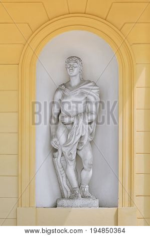 Statue of an Antique Man in the Niche