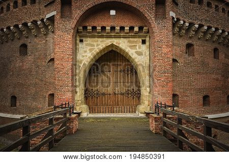 Krakow Barbican - Historic Gateway Leading into the Old Town of Krakow Poland