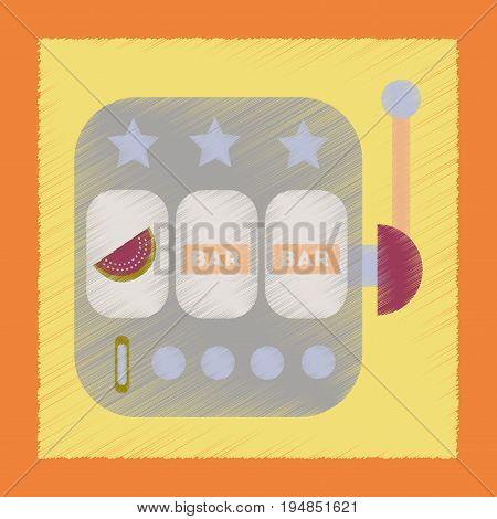 flat shading style icon poker slot machine