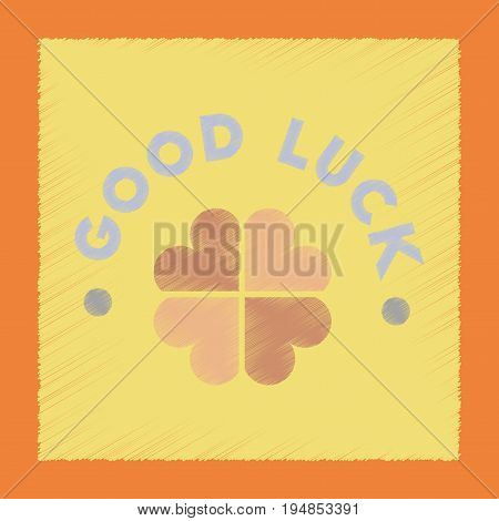 flat shading style icon poker good luck clover