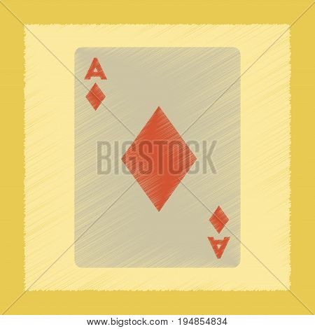 flat shading style icon poker playing cards