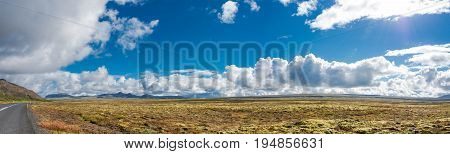 Panoramic View Of Icelandic Landscape