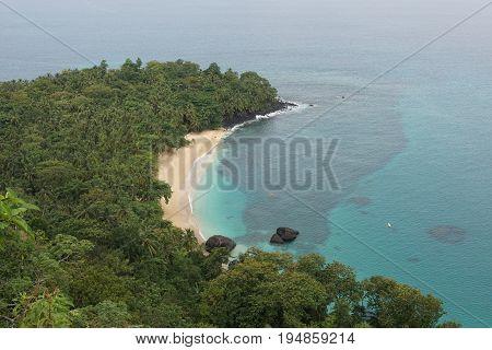 Banana Beach on Principe Island, Sao Tome and Principe, Africa