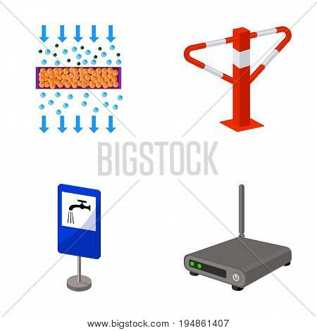 internet, facility, equipment and other  icon in cartoon style.information, television, video, icons in set collection.