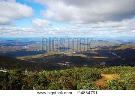 On top of Cannon Mountain in Franconia Notch State Park in White Mountain National Forest, New Hamphire, USA.