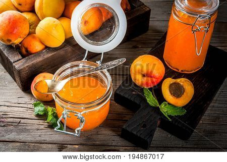 Apricot Jam In Small Jars