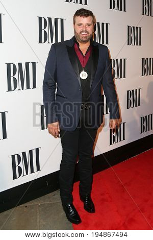 NASHVILLE, TN-NOV 3: Recording artist Randy Hauser attends the 63rd annual BMI Country awards at BMI on November 3, 2015 in Nashville, Tennessee.