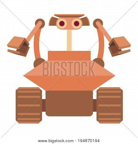 Robot collector icon. Cartoon illustration of robot collector vector icon for web isolated on white background