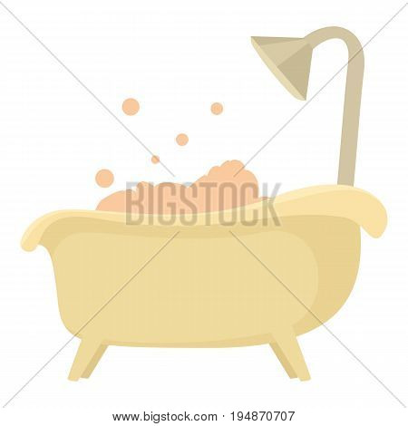 Bath icon. Cartoon illustration of bath vector icon for web isolated on white background