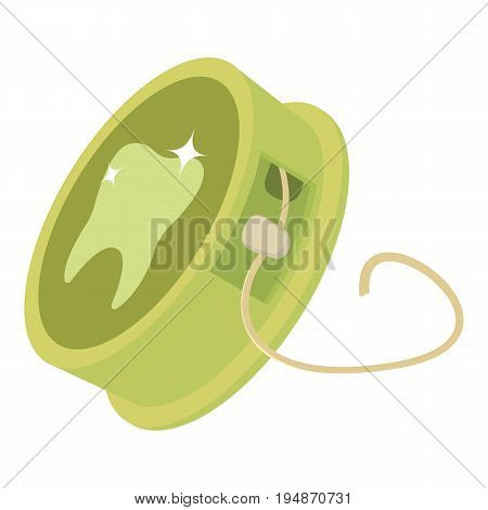 Dental floss icon. Cartoon illustration of dental floss vector icon for web isolated on white background