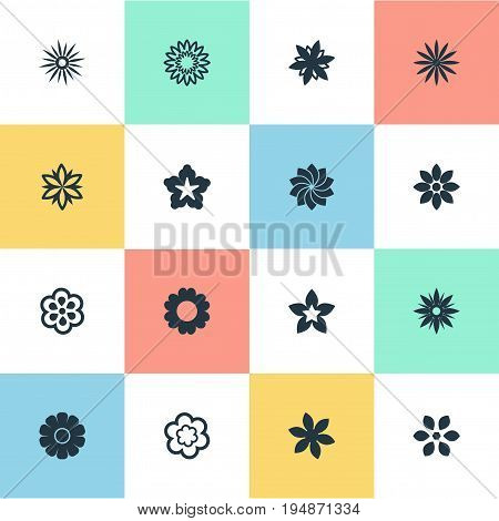 Vector Illustration Set Of Simple  Icons. Elements Stock, Jonquil, Floral And Other Synonyms Laurel, Stock And Floral.