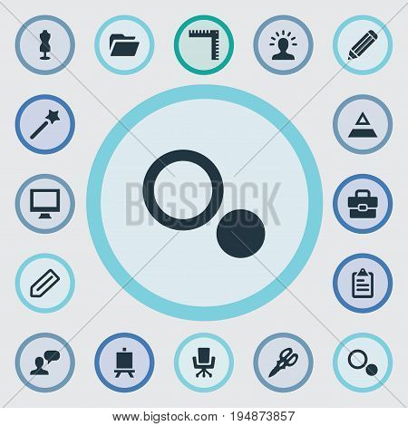 Vector Illustration Set Of Simple Design Icons. Elements Assessment, Documents, Wizard Stick And Other Synonyms Tag, File And List.