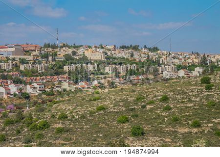 Ariel city view. Ariel is a city that located inside the west bank of Israel.