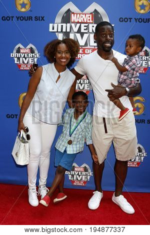 LOS ANGELES - JUL 8:  Ryan Michelle Bathe, Sterling K Brown, Sons at the Marvel Universe Live Red Carpet at the Staples Center on July 8, 2017 in Los Angeles, CA