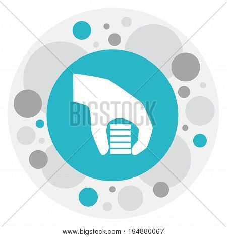 Vector Illustration Of Business Symbol On Wager Icon. Premium Quality Isolated Bet Element In Trendy Flat Style.