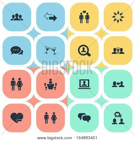 Vector Illustration Set Of Simple  Icons. Elements Homosexual, Beer, Arrows And Other Synonyms Bar, Female And Conference.