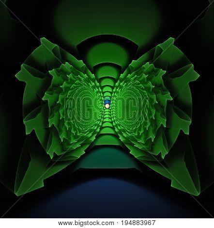 An imaginary quantum machine designed to move quantum particles.