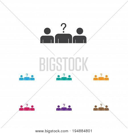 Vector Illustration Of Job Symbol On Vacancy Icon. Premium Quality Isolated Candidate Element In Trendy Flat Style.