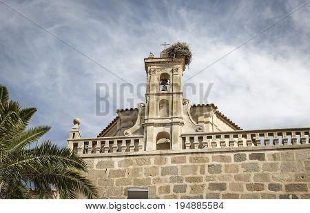 Nuestra Senora de la Granada parish church in Fuente de Cantos, province of Badajoz, Spain