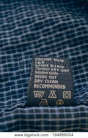Closeup Clothes Label