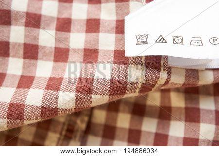 Bright Closeup Clothes Label On A Shirt