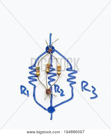 three Parallel Connected Resistors - parallel circuit