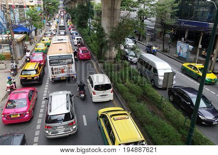 Traffic Condition In Bangkok