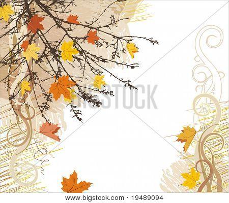 autumn vector background / corner