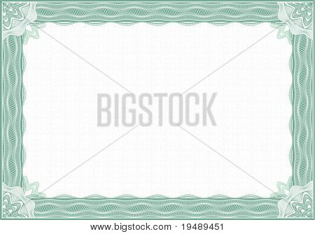 Classic  border for diploma or certificate / A4