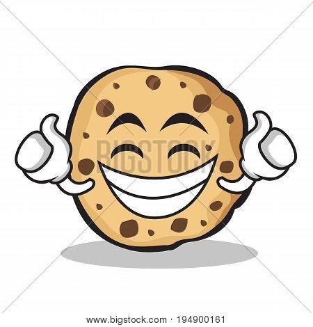 Proud sweet cookies character cartoon vector illustration