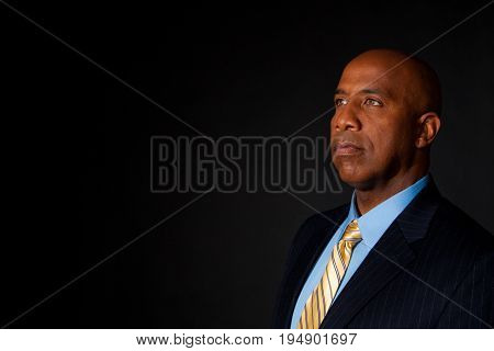 Portrait of a handsome middle age African American businessman.