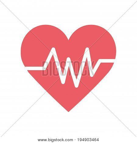 heartbeat element to know cardiac rhythm vector illustration