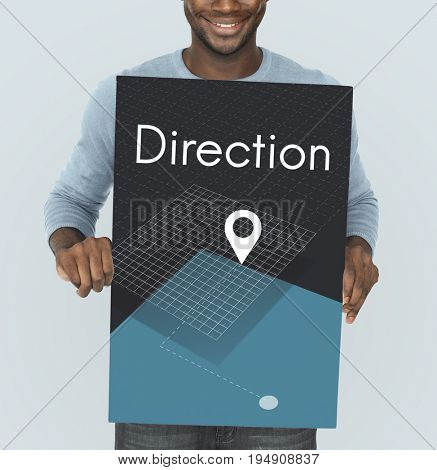 Direction Find Route Navigation Concept