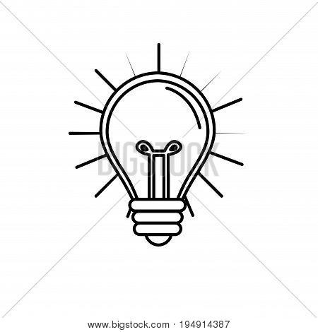 line light bulb idea to creative invention vector illustration