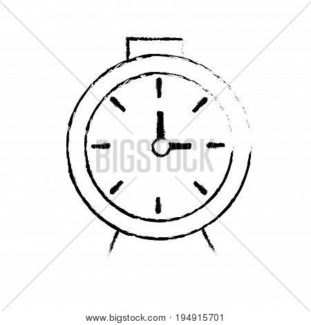 figure clock design to know the time vector illustration
