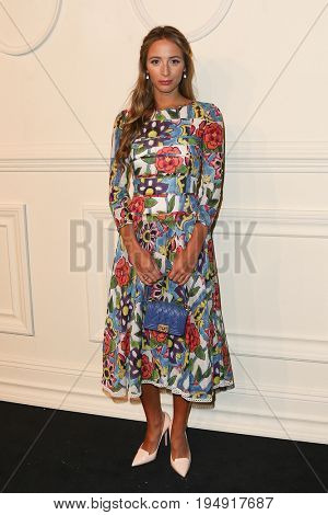 NEW YORK-MAR 31: DJ Harley Viera-Newton wearing a multicolor dress  attends the CHANEL Paris-Salzburg 2014/15 Metiers d'Art Show and Party at the Park Avenue Armory on March 31, 2015 in New York City.
