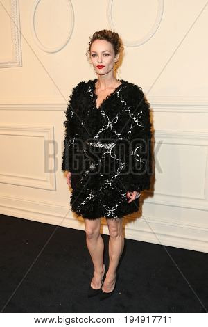 NEW YORK-MAR 31: Singer/model/actress Vanessa Paradis attends the CHANEL Paris-Salzburg 2014/15 Metiers d'Art Show and Party at the Park Avenue Armory on March 31, 2015 in New York City.