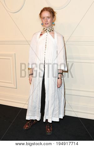 NEW YORK-MAR 31: Actress India Salvor Menuez attends the CHANEL Paris-Salzburg 2014/15 Metiers d'Art Show and Party at the Park Avenue Armory on March 31, 2015 in New York City.