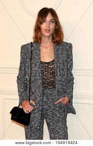 NEW YORK-MAR 31: Actress Alexa Chung attends the CHANEL Paris-Salzburg 2014/15 Metiers d'Art Show and Party at the Park Avenue Armory on March 31, 2015 in New York City.