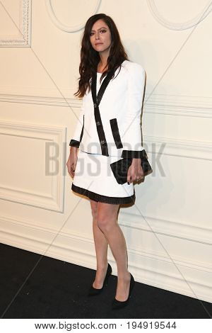 NEW YORK-MAR 31: Actress Anna Mouglalis attends the CHANEL Paris-Salzburg 2014/15 Metiers d'Art Show and Party at the Park Avenue Armory on March 31, 2015 in New York City.