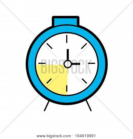 clock design to know the time vector illustration