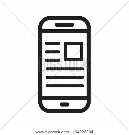 Newspaper, online, news icon vector image. Can also be used for news and media. Suitable for mobile apps, web apps and print media.