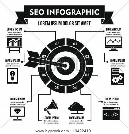 SEO infographic banner concept. Simple illustration of SEO infographic vector poster concept for web