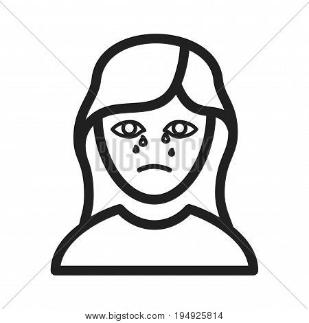 Crying, death, funeral icon vector image. Can also be used for funeral. Suitable for mobile apps, web apps and print media.
