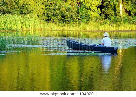 Fishing In A Canoe